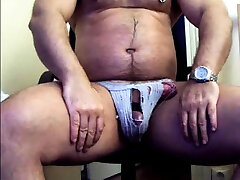 thick muth vid my boy cheating in jock strap jerking his thick cock