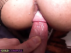 Shemale trooper Bipor from Thailand works his big white cock with her holes