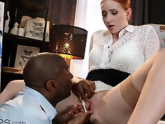 Dane Jones Big tits redhead Kiara Lord BBC creampie