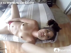 Big Booty Stepdaughter Fingers Her Tight Wet Pussy