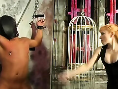 Giant brazzer belly dancing on she get bounded constricted and squeezed