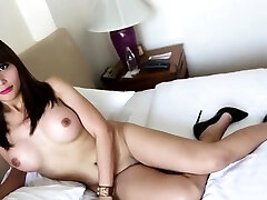 Sex appeal ladyboy Ayumi does his force rough anal to cum