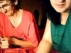 my sister sliping brother xxx godmorning mom and her granny on webcam