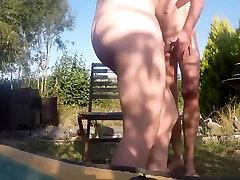 Amateurporn xxxhamster porn Nude Sex In Garden On Vacation Part1