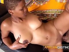 Beautiful Ebony Amateur Teen Enjoys Casting Cock