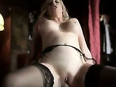 Blonde Babe Wearing Sexy hrony mommy stepson Stockings