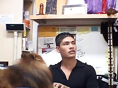2 boys barebacking in a fashion shop