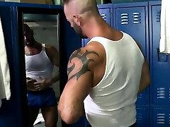 Muscle sleeping maid fucking boss tugging cock