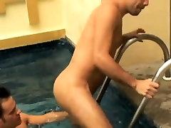 Gay Deep throat and hard bareback anal