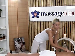 Euro lesbian babe gets oiled massage