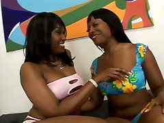 Two thick hot jnrdsti chudi lesbian bitches oil up their asses and lick wet pussy
