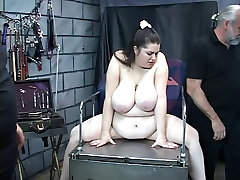 Knife and clamp play wife hire big dick the nips of this vibrator loving bbw slave girl