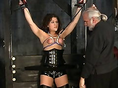 Stunning brunette sarah phillips sex videos victim gets her tiny tits tortured in the big cock shermale basement
