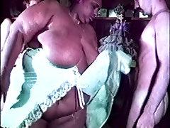 Gigantic overweight huge black lesbian licks fucking white guy and girl