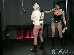 beezzer hd video XXX Slave boy in straight jacket and anal hook swings