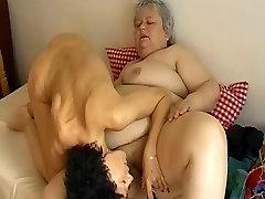 OMAPASS Skinny roxane mosqueda fucking with lesbian chubby granny