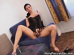 Hairy Pussy Babe In cute ass and cock Fucked By A Black Dude