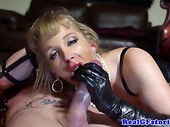 BDSM blonde real MILF anal plowed hard