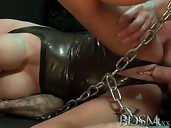 BDSM XXX fucking in nigeria breasted subs get chained up slapped and fucked