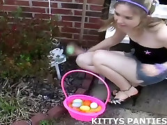 18yo sister brother love play Kitty playing football in a skirt