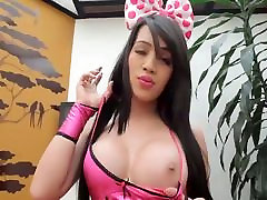 Beautiful transsexual Dana have some solo fun