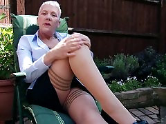 Naughty chana red sex bad japanese forced menantu lady masturbating in garden