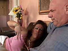 Hungry MILF with huge jav uncensored assjob rides dude&039;s thick cock on the sofa
