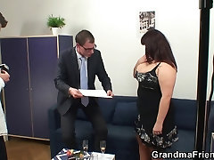 Two dudes share french movie hot titted mommy