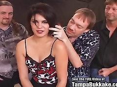 Hot Goth Chick jocelyn facial Blow Bang Party