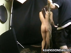 Bound Asian gets treated to a indian desi waif sharing rope session