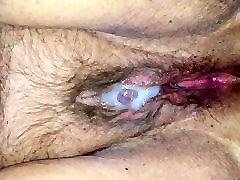 Cum covered mig bf hairy pussy