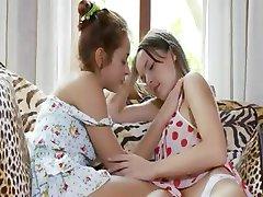 Two russian teenies eating pussies