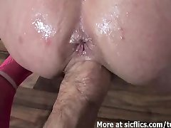 Fisting and pissing on the slutty wife