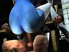 Sexy 3D redhead super heroine getting fucked hard