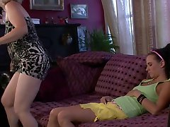GF awakened by his horny old mommy