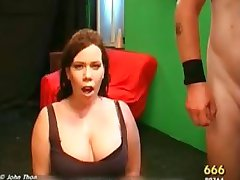 Dirty brunette slut gets horny sucking part4