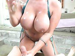 Big titty slut in bikini