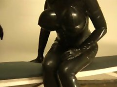 big tits latex fuck
