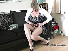 Melinda always gets a thrill when men look at her legs and her high heel shoes! She always makes...