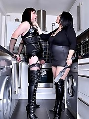Mistress Jemstone humiliates tranny Fiona with enforced anal