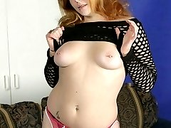 Plump cutie Cherry Poppens show off her big fat tits and spreads her thighs to play with her...