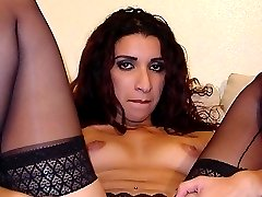 Naughty desi Dulce spreading her hairy muff to welcome a rock hard cock in her slit