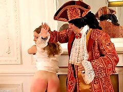 A costume spanking punishment