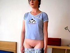 Innocent looking redhead humiliated and spanked on her perfectly formed bottom