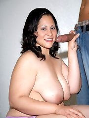 Chubby Latina loves to swallow jizz!
