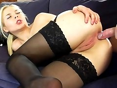 Tasty blondie gets her ass cheeks spread wide for a hardcore anal workout