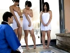 Japanese AV Model and babes in towels clean PublicSexJapan.com