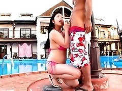 Minako Komukai Asian sucks shlong and is OutdoorJp.com