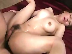 Japanese cutie Rei gets her pussy worked on and fucked for creampie