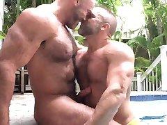 Jesse and Dirk Pool Blowjob